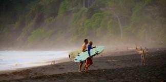 Surfing Hermosa beach