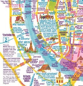 Kort over Bangkok
