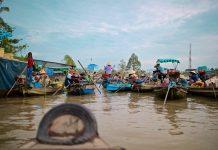 Flydende markeder i Vietnam