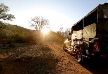 På vej på bushwalk i Sydafrika