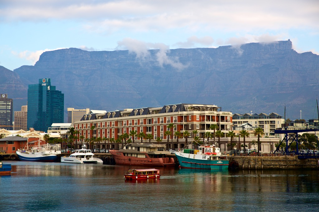 V&A waterfront harbour i Cape Town