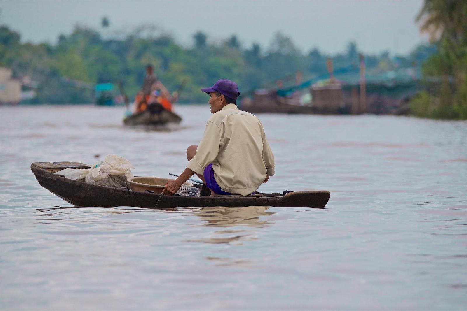 Mekongfloden i Vietnam