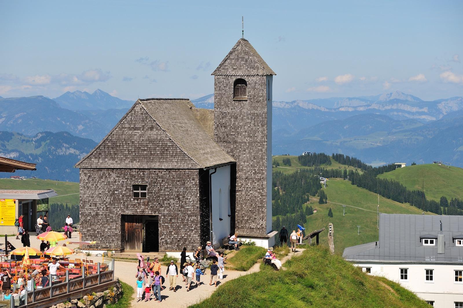 Kirken på toppen af Hohe Salve