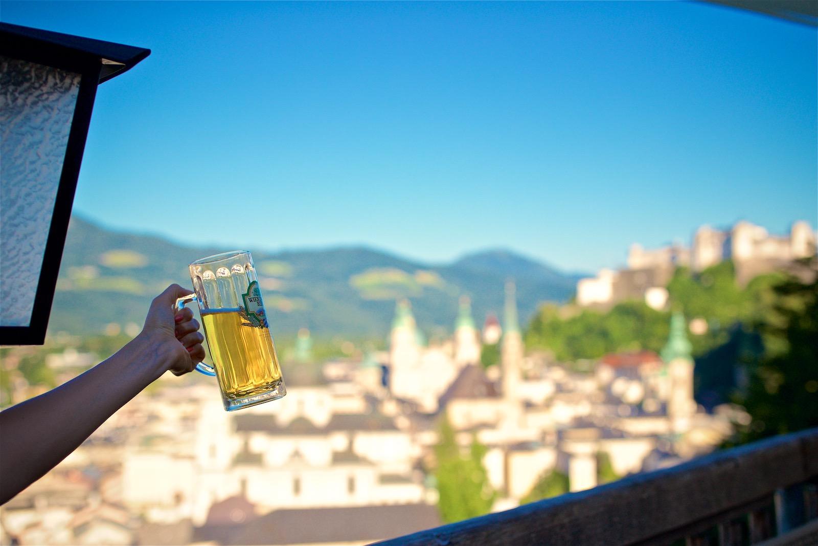 Stadtalm ølhave i Salzburg