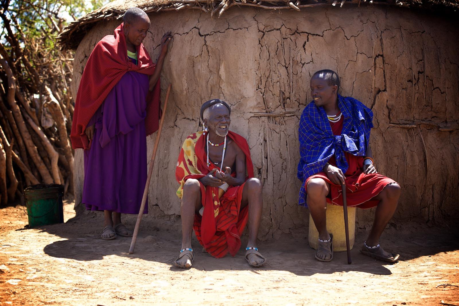 Masai-landsby i Tanzania