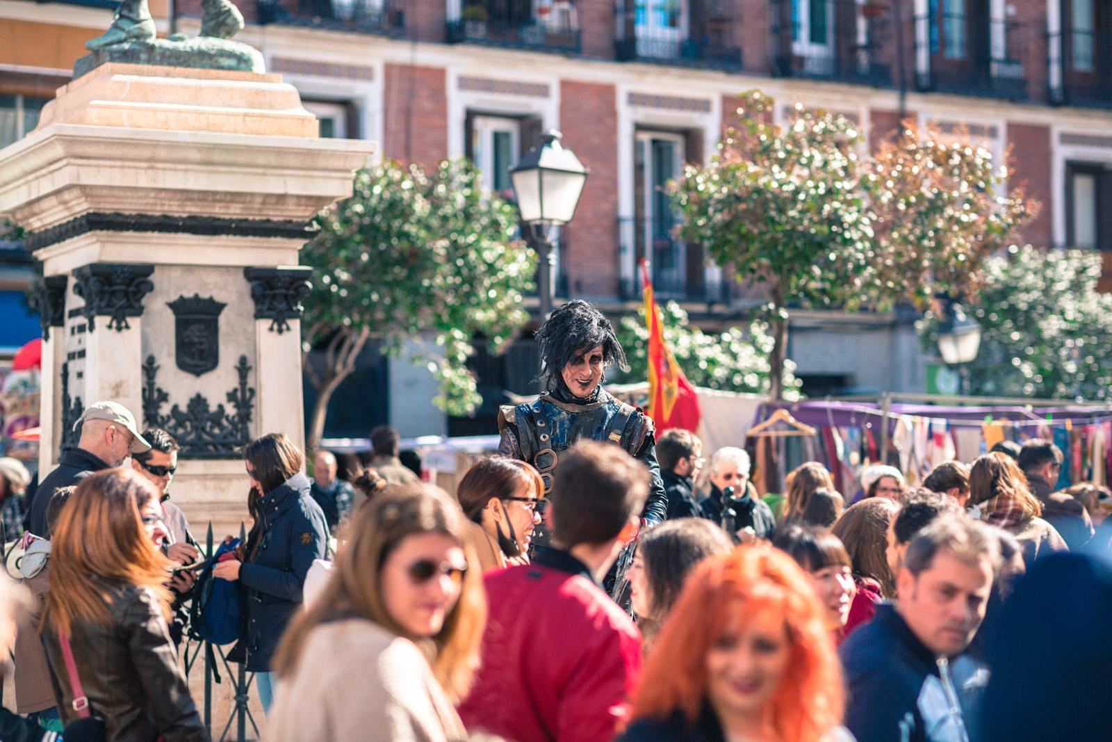 Loppemarked i Madrid