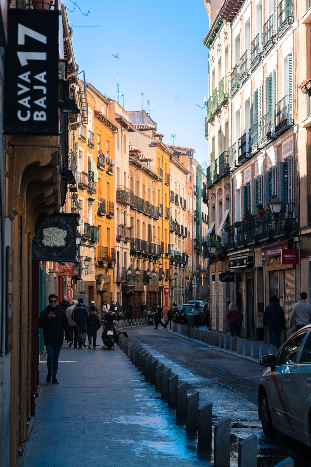 Tapasgade i Madrid