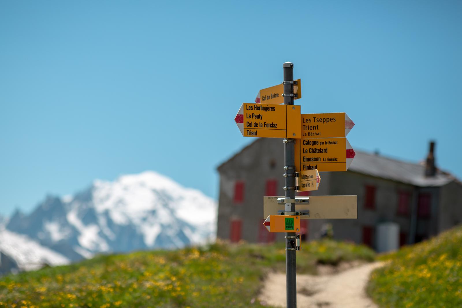 Vandrerute rundt om Mont Blanc
