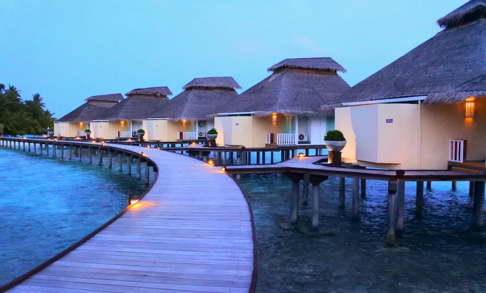 Maldiverne hytter
